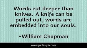 WORDS CUT DEEP